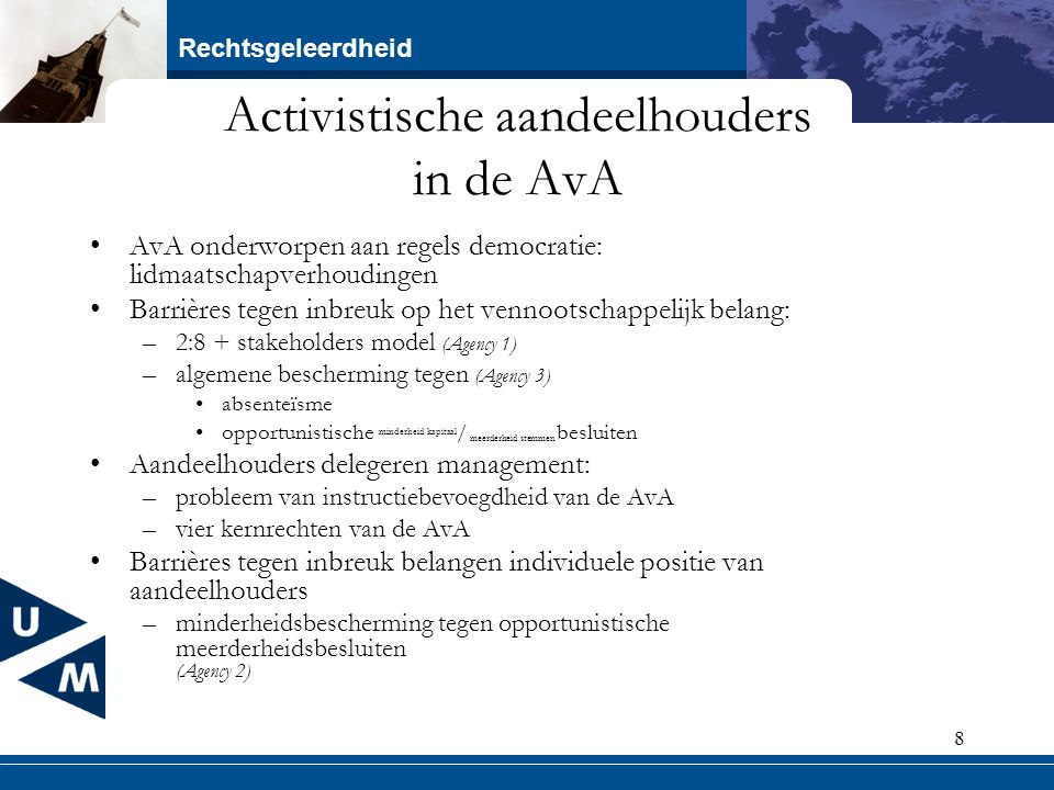 Activistische aandeelhouders in de AvA