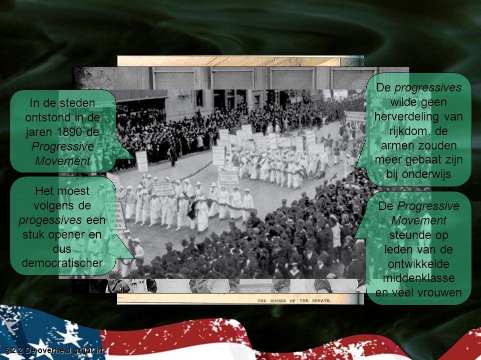 In de steden ontstond in de jaren 1890 de Progressive Movement