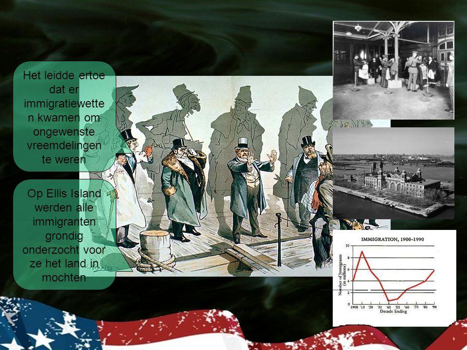 Het leidde ertoe dat er immigratiewetten kwamen om ongewenste vreemdelingen te weren