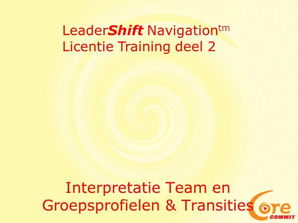 Interpretatie Team en Groepsprofielen & Transities