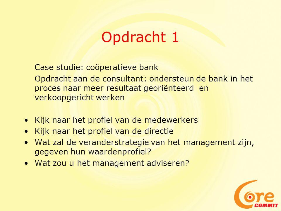 Opdracht 1 Case studie: coöperatieve bank
