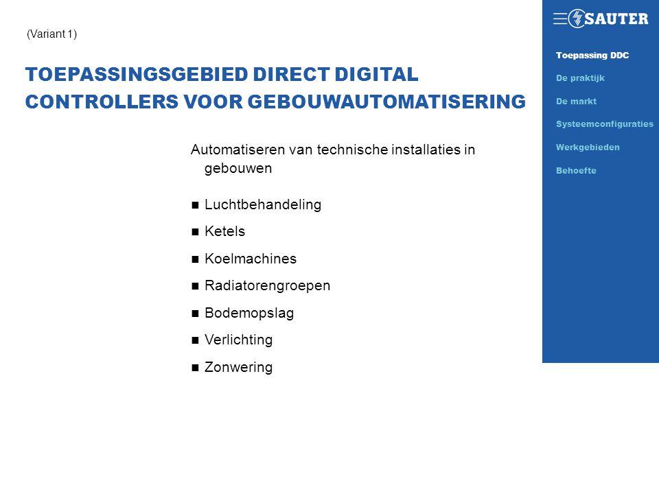 TOEPASSINGSGEBIED DIRECT DIGITAL CONTROLLERS VOOR GEBOUWAUTOMATISERING