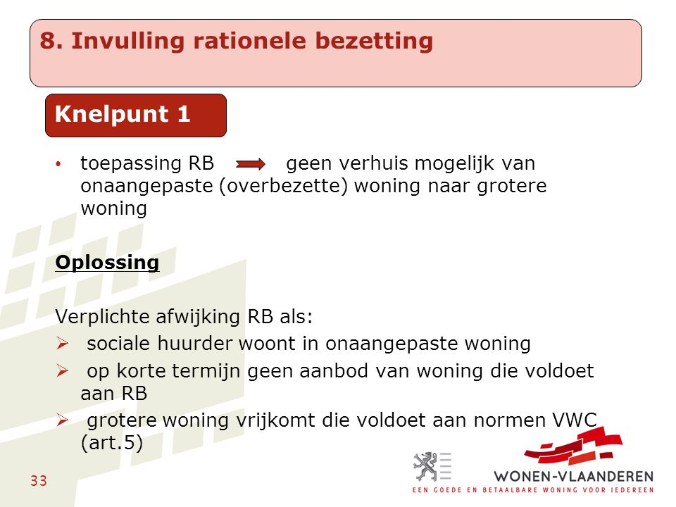 8. Invulling rationele bezetting