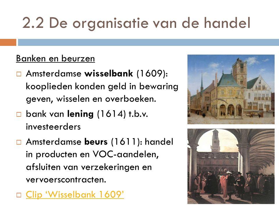 2.2 De organisatie van de handel