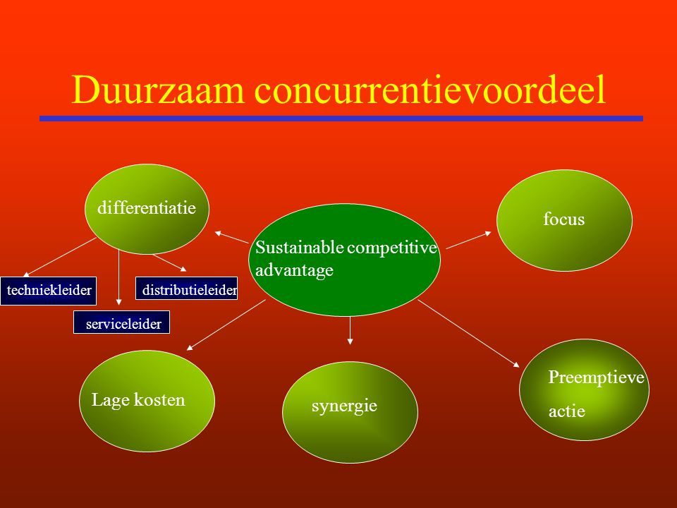 Duurzaam concurrentievoordeel