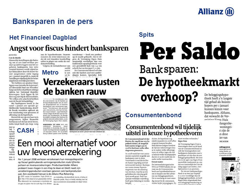 Banksparen in de pers Spits Het Financieel Dagblad Metro