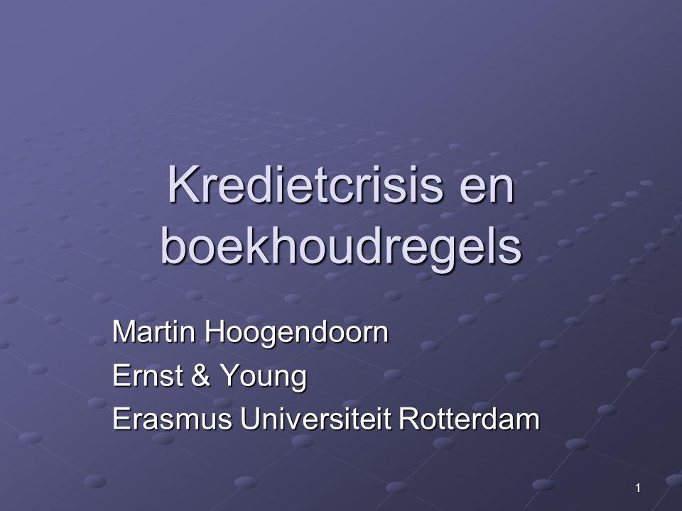 Kredietcrisis en boekhoudregels