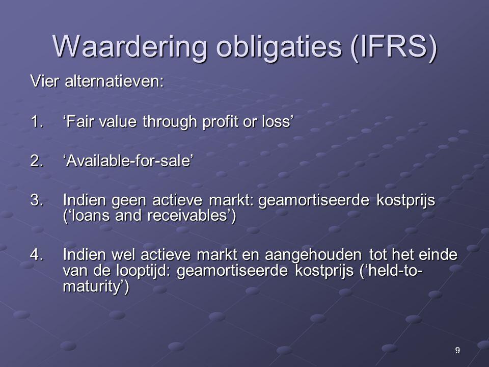 Waardering obligaties (IFRS)
