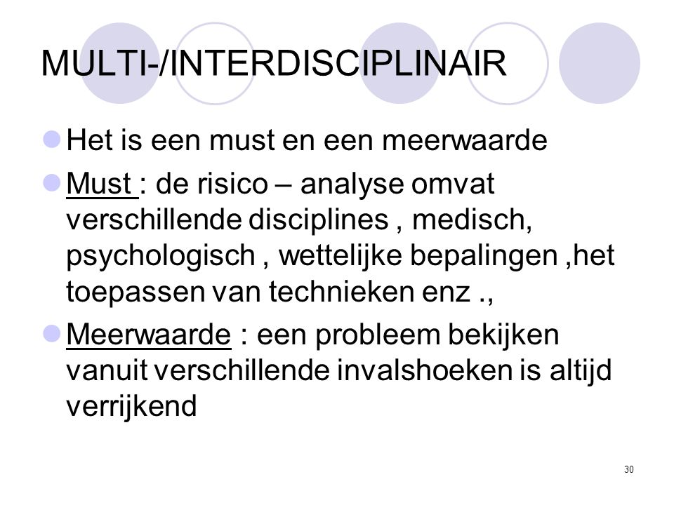 MULTI-/INTERDISCIPLINAIR
