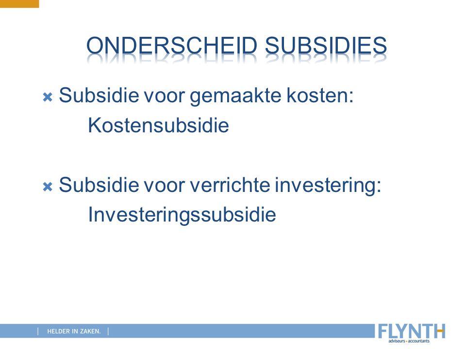 Onderscheid subsidies