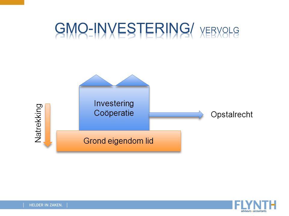 GMO-investering/ vervolg