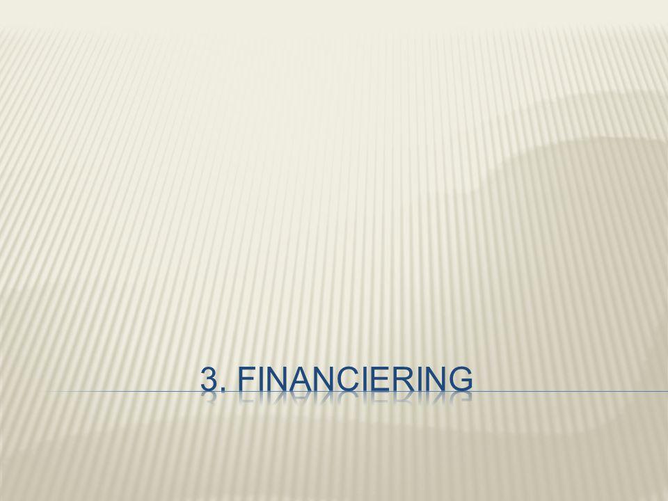 3. Financiering