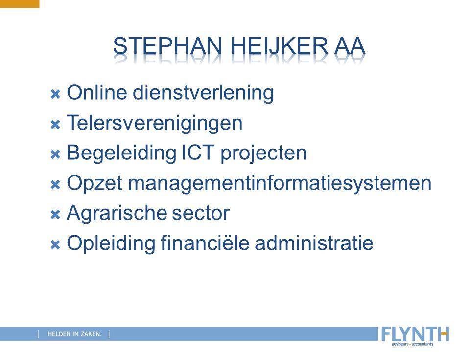 Stephan Heijker AA Online dienstverlening Telersverenigingen