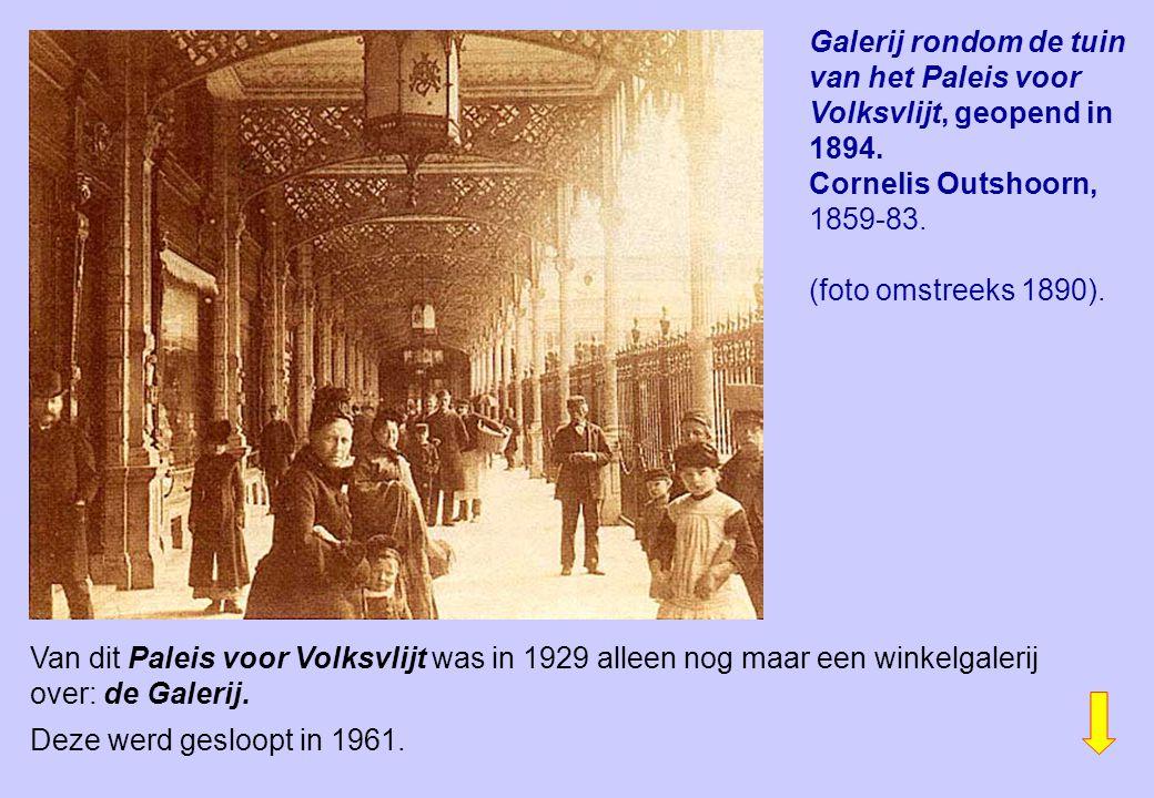 Galerij rondom de tuin van het Paleis voor Volksvlijt, geopend in 1894