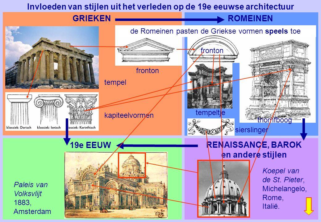 Invloeden van stijlen uit het verleden op de 19e eeuwse architectuur