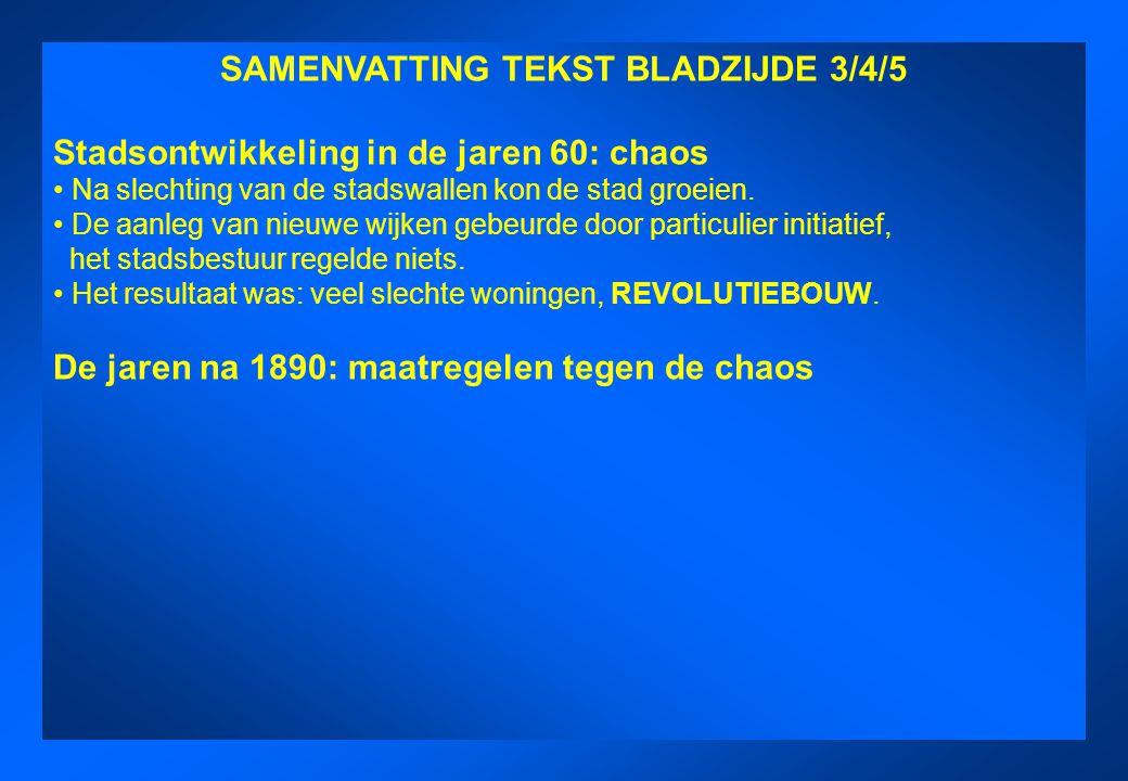 SAMENVATTING TEKST BLADZIJDE 3/4/5