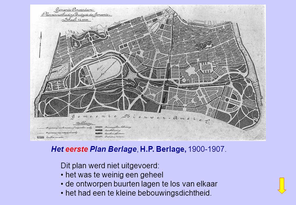 Het eerste Plan Berlage, H.P. Berlage, 1900-1907.