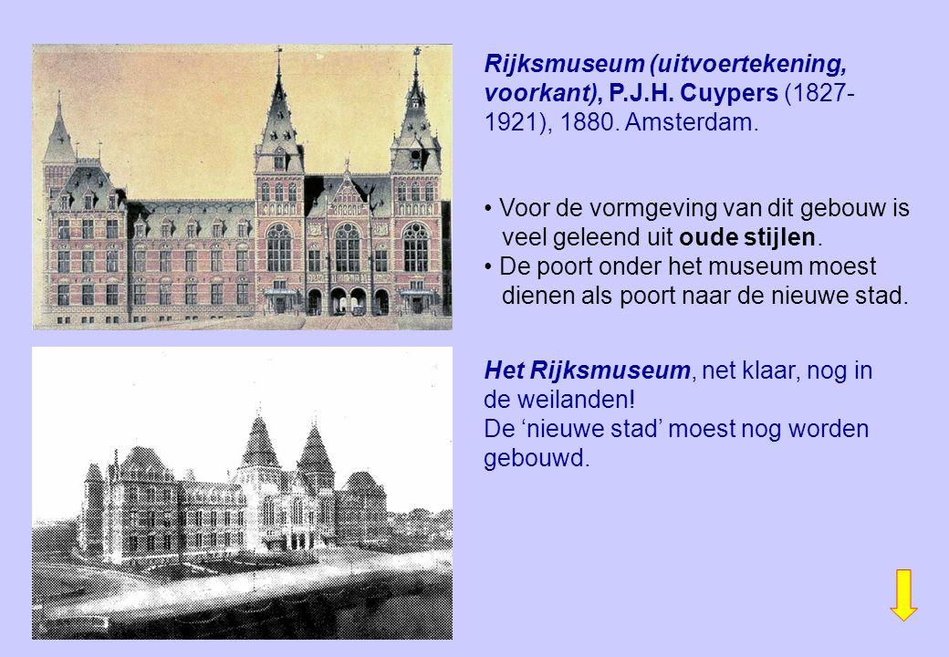 Rijksmuseum (uitvoertekening, voorkant), P. J. H