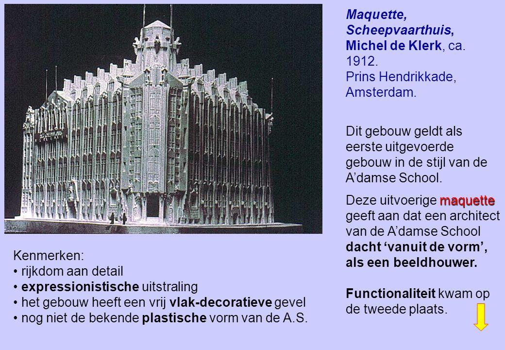 Maquette, Scheepvaarthuis, Michel de Klerk, ca. 1912.
