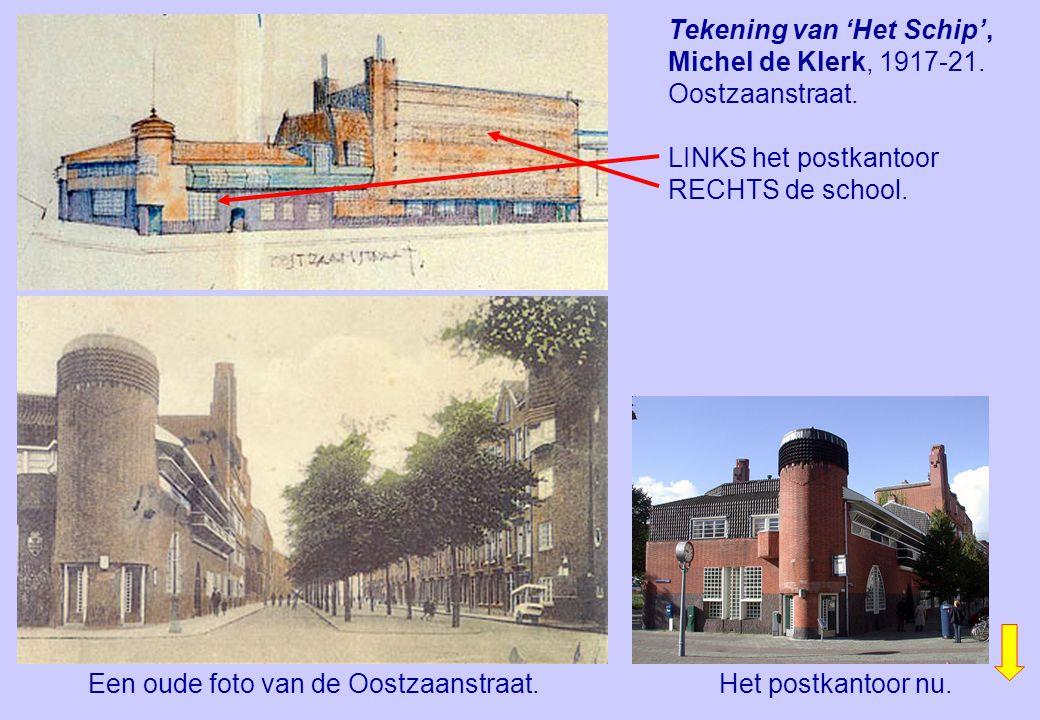 Tekening van 'Het Schip', Michel de Klerk, 1917-21. Oostzaanstraat.