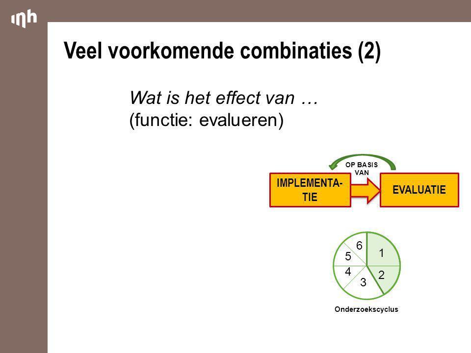 Veel voorkomende combinaties (2)