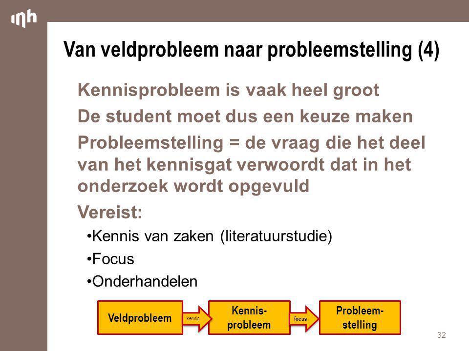 Van veldprobleem naar probleemstelling (4)