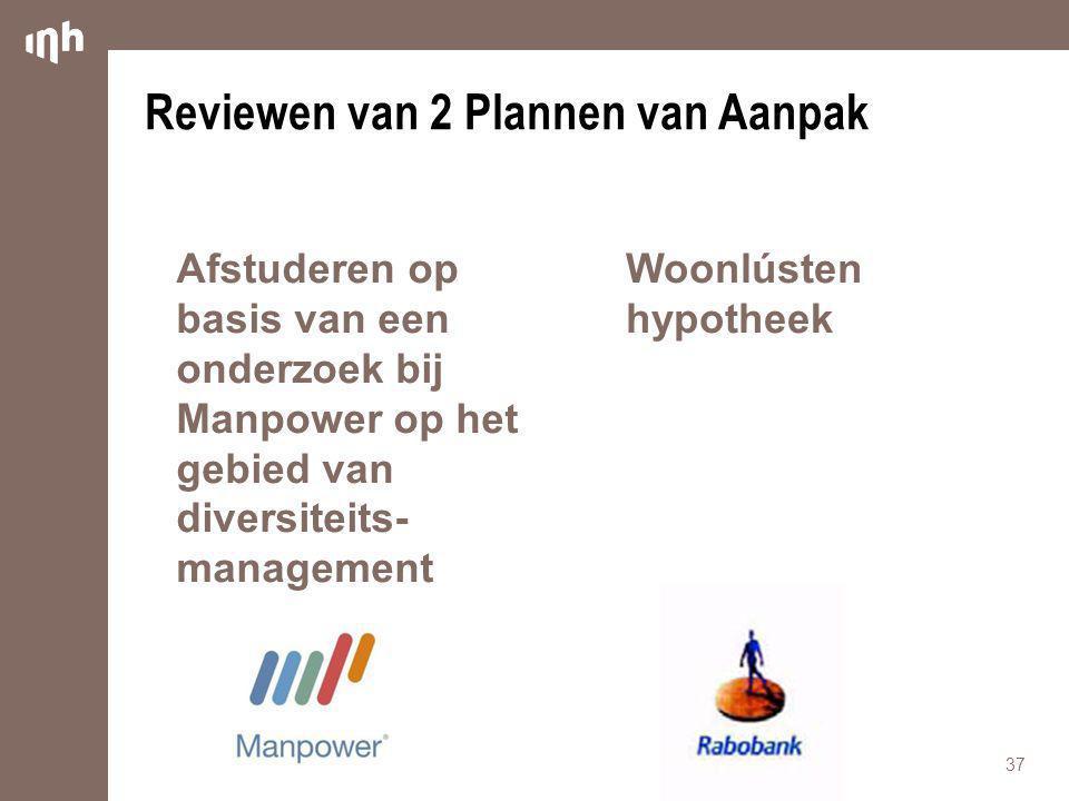 Reviewen van 2 Plannen van Aanpak
