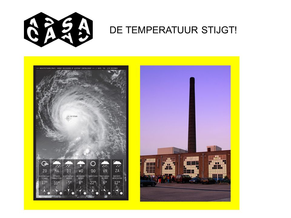 DE TEMPERATUUR STIJGT!