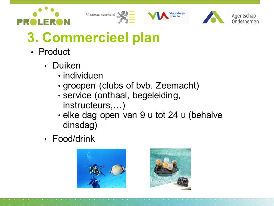 3. Commercieel plan Product Duiken individuen