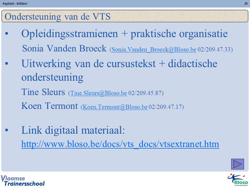 Ondersteuning van de VTS