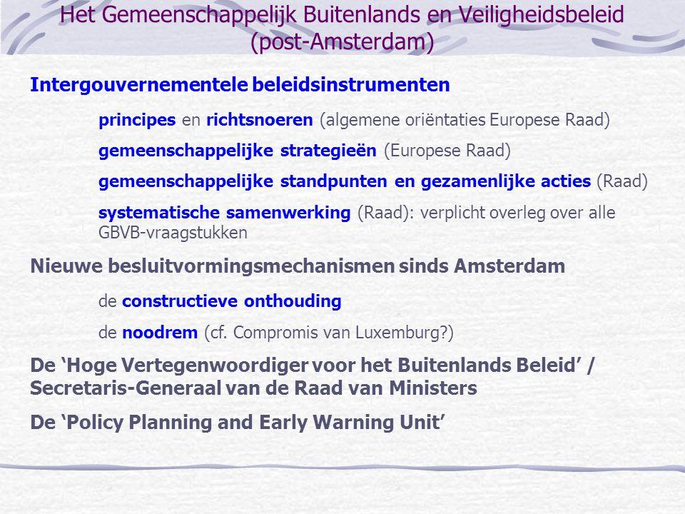 Het Gemeenschappelijk Buitenlands en Veiligheidsbeleid (post-Amsterdam)