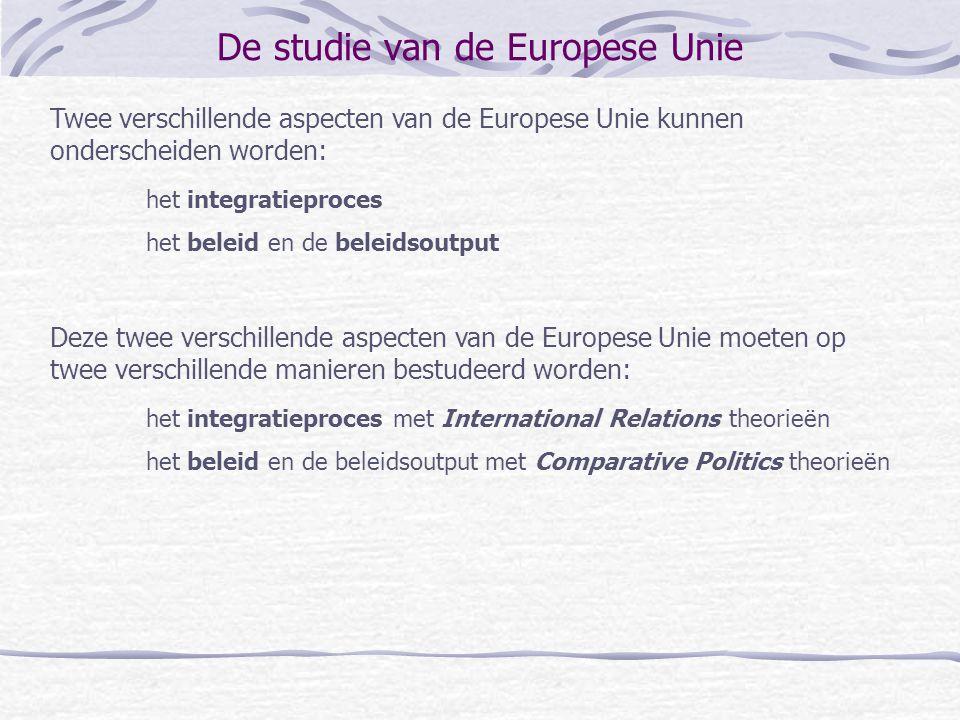 De studie van de Europese Unie