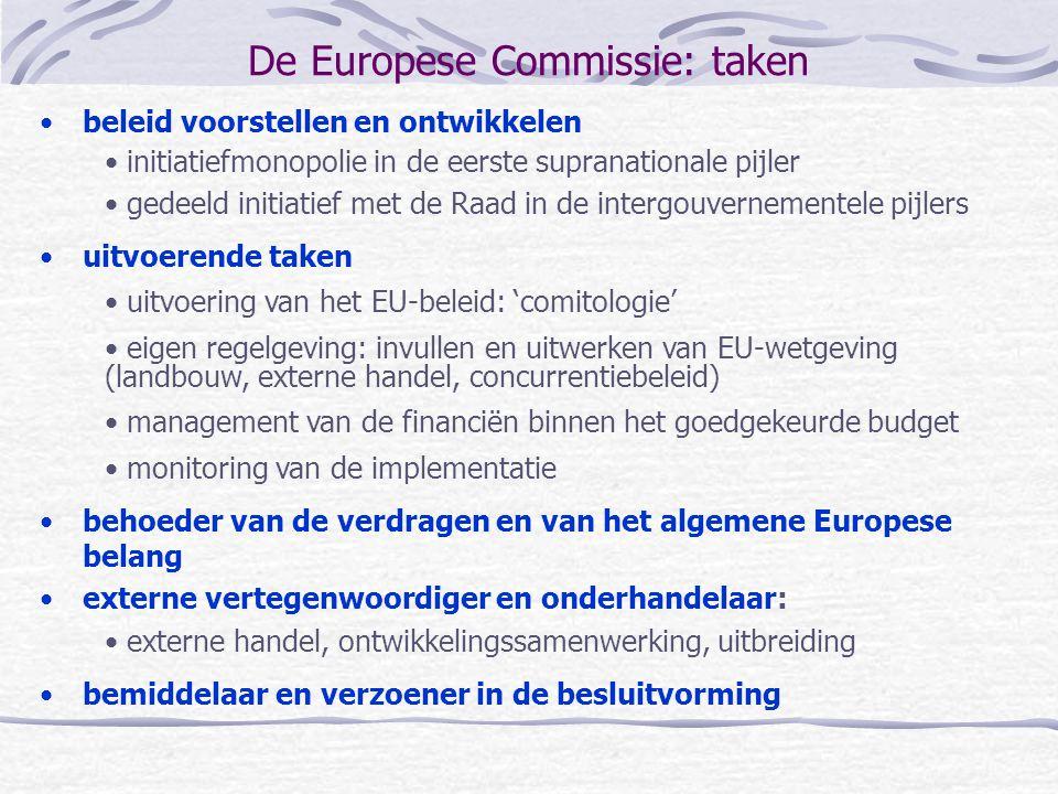 De Europese Commissie: taken