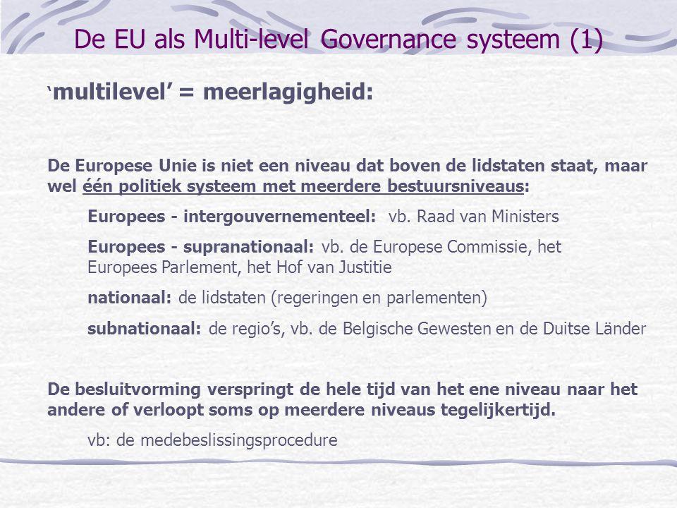 De EU als Multi-level Governance systeem (1)