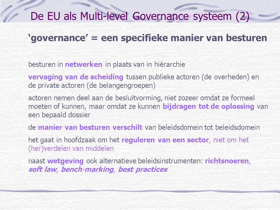 De EU als Multi-level Governance systeem (2)