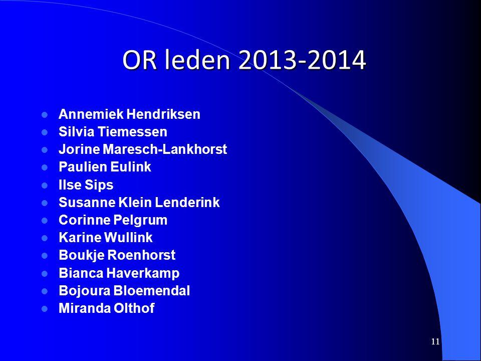 OR leden 2013-2014 Annemiek Hendriksen Silvia Tiemessen