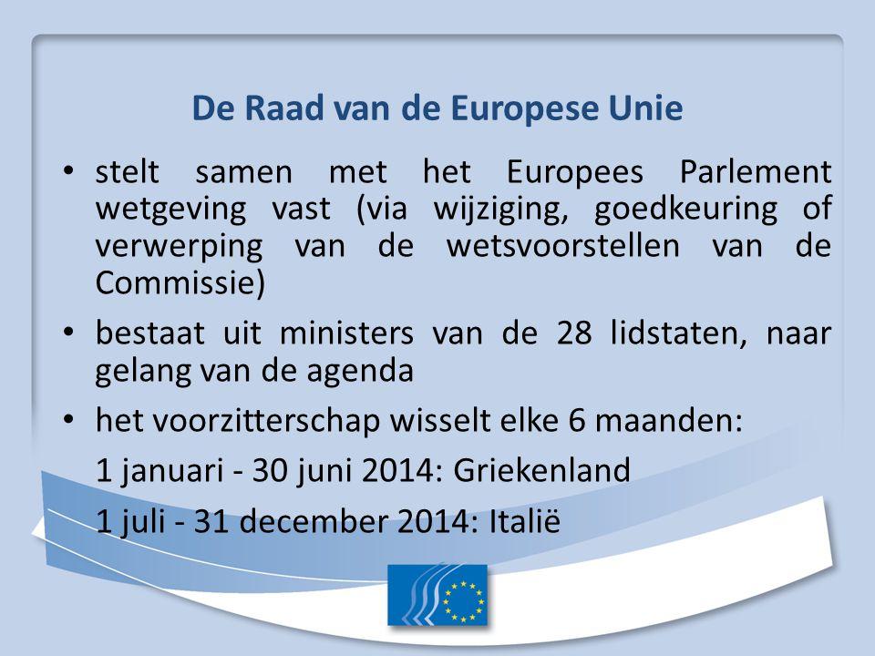 De Raad van de Europese Unie