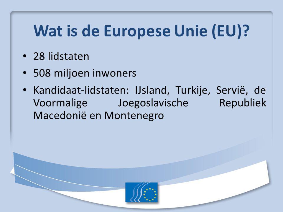 Wat is de Europese Unie (EU)