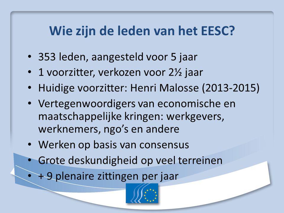 Wie zijn de leden van het EESC