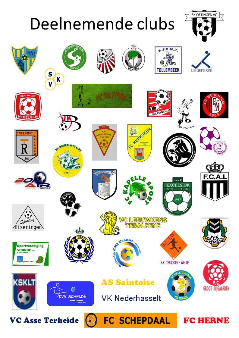 Deelnemende clubs