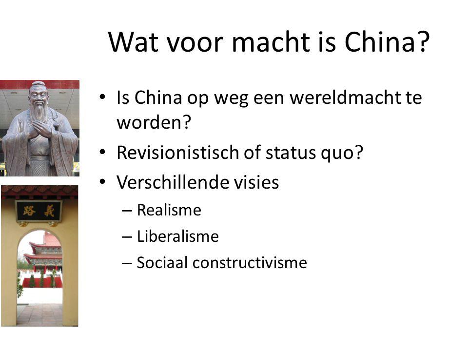 Wat voor macht is China Is China op weg een wereldmacht te worden