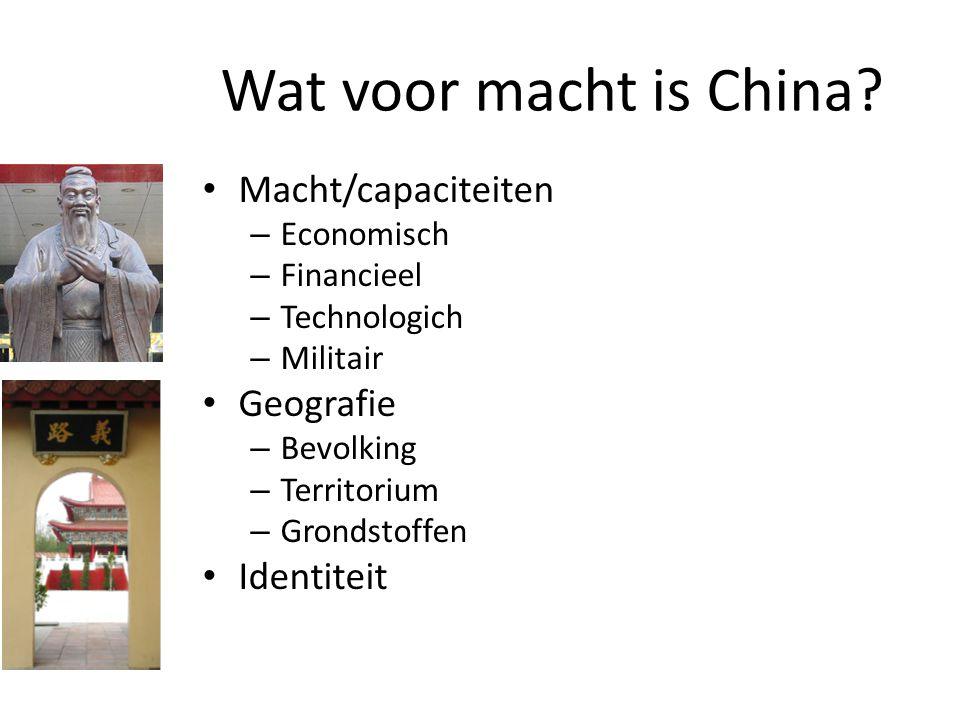 Wat voor macht is China Macht/capaciteiten Geografie Identiteit