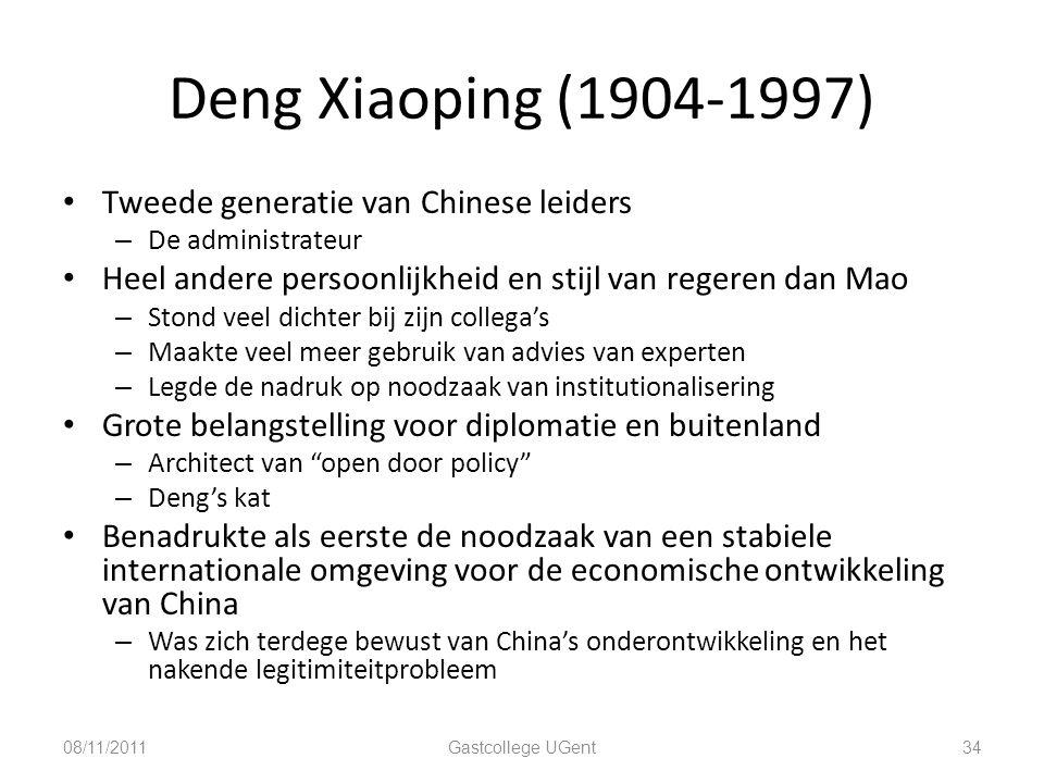 Deng Xiaoping (1904-1997) Tweede generatie van Chinese leiders