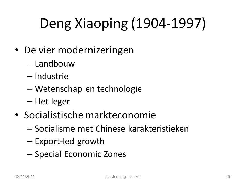 Deng Xiaoping (1904-1997) De vier modernizeringen