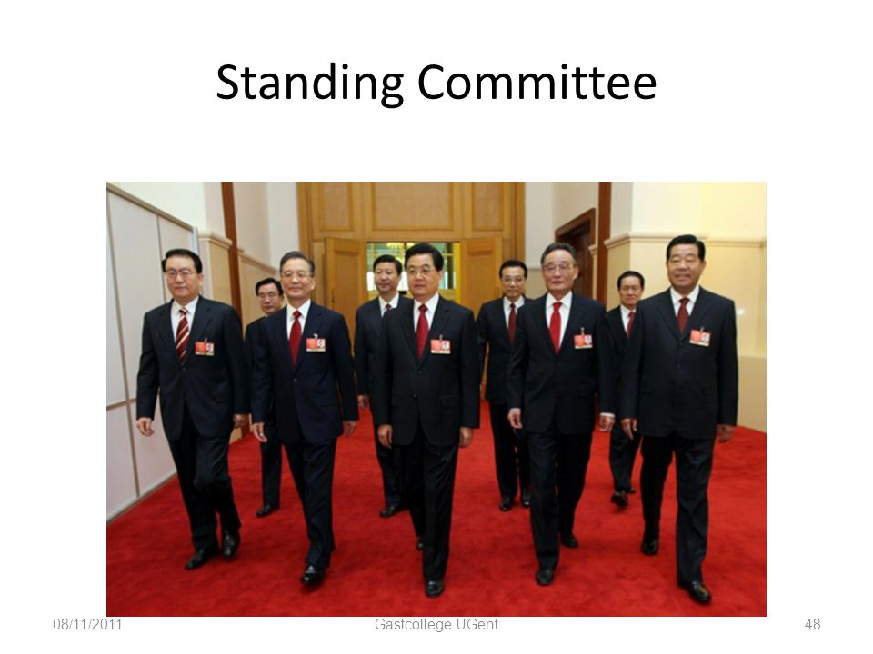Standing Committee 08/11/2011 Gastcollege UGent