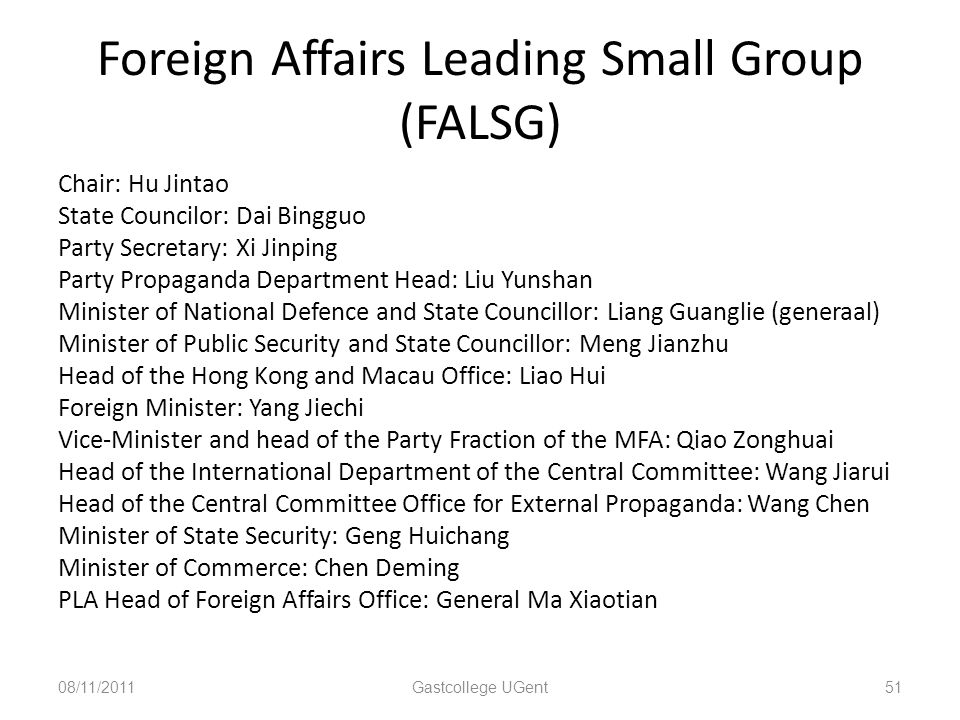 Foreign Affairs Leading Small Group (FALSG)