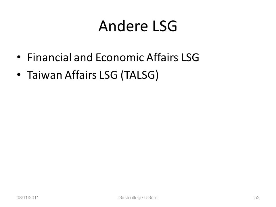 Andere LSG Financial and Economic Affairs LSG