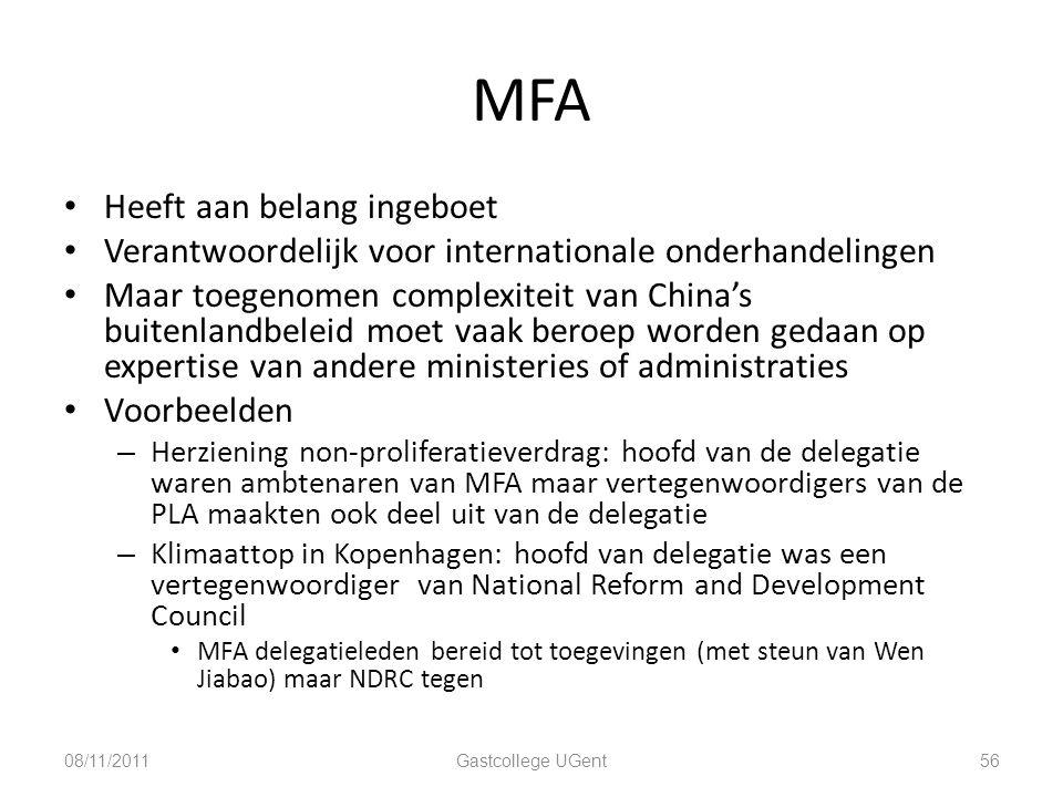 MFA Heeft aan belang ingeboet