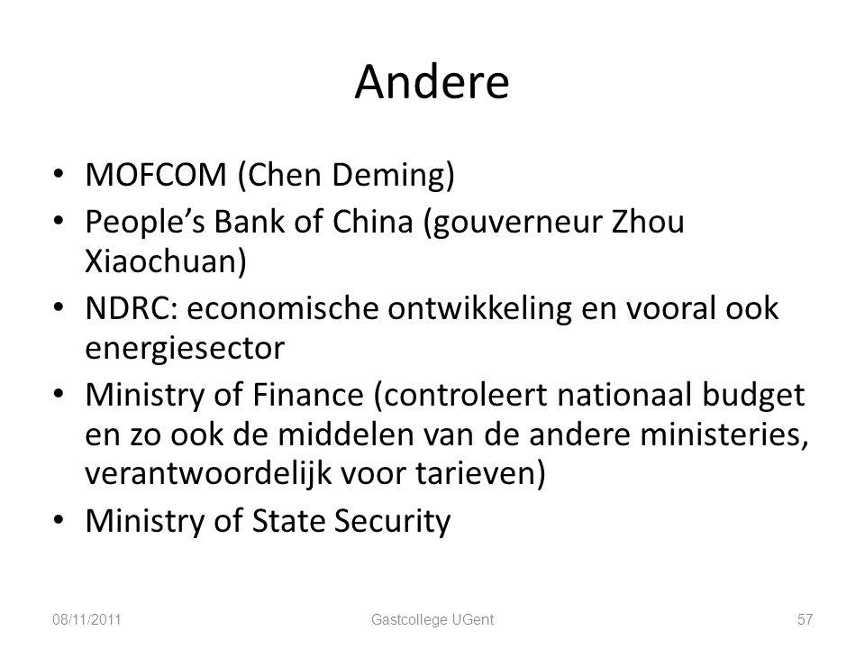 Andere MOFCOM (Chen Deming)