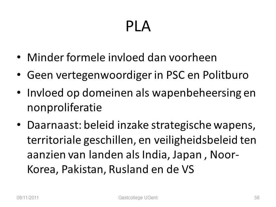 PLA Minder formele invloed dan voorheen